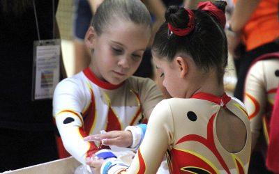 Las más pequeñas deslumbran sobre los aparatos del Campeonato Nacional de Gimnasia